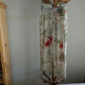 Wide leg floral jumpsuit
